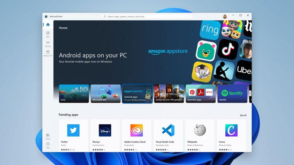 W samą porę dla systemu Windows 11 Amazon AppStore będzie obsługiwał pakiety aplikacji