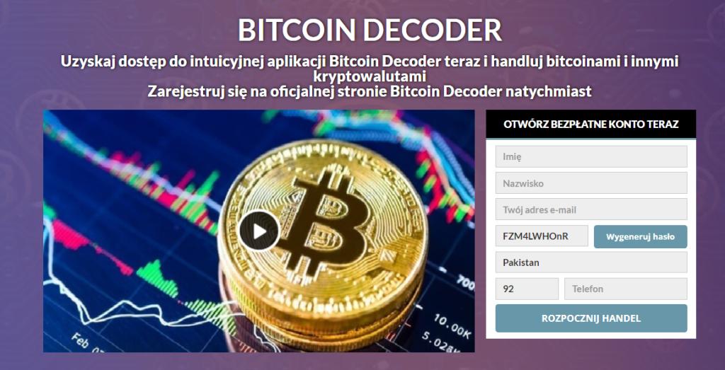 Bitcoin Decoder Recenzja 2021: Czy to jest legalne czy fałszywe?