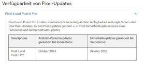 Pixel 6 (Pro): Google rozpowszechnia mniej aktualizacji Androida niż oczekiwano